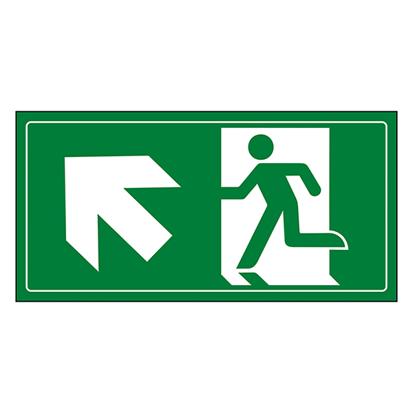 Fire Exit Man Running Up Left