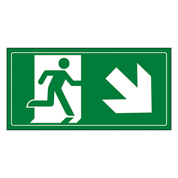 Fire Exit Man Running Down Right
