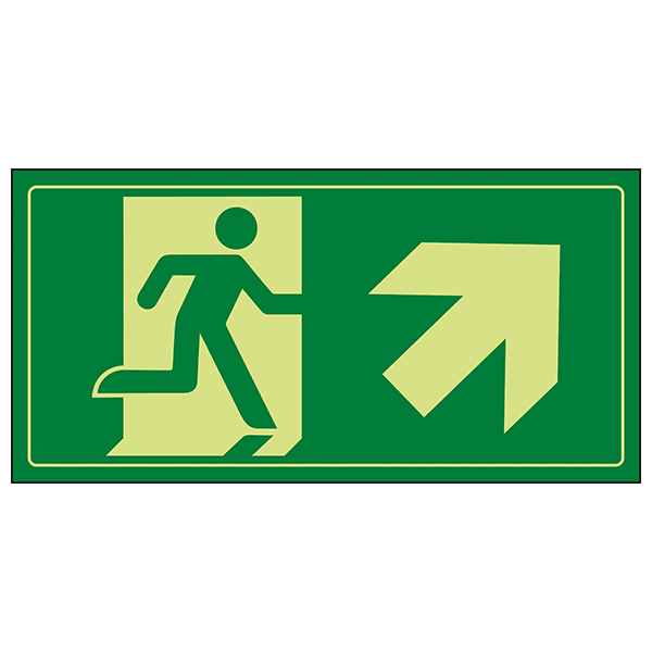 GITD Fire Exit Man Running Up Right