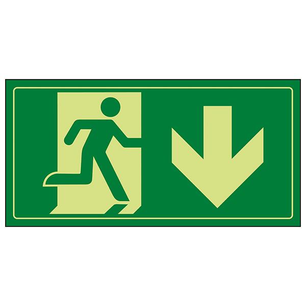 GITD Fire Exit Man Running Down