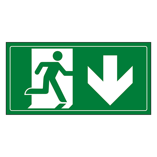 Fire Exit Man Running Down