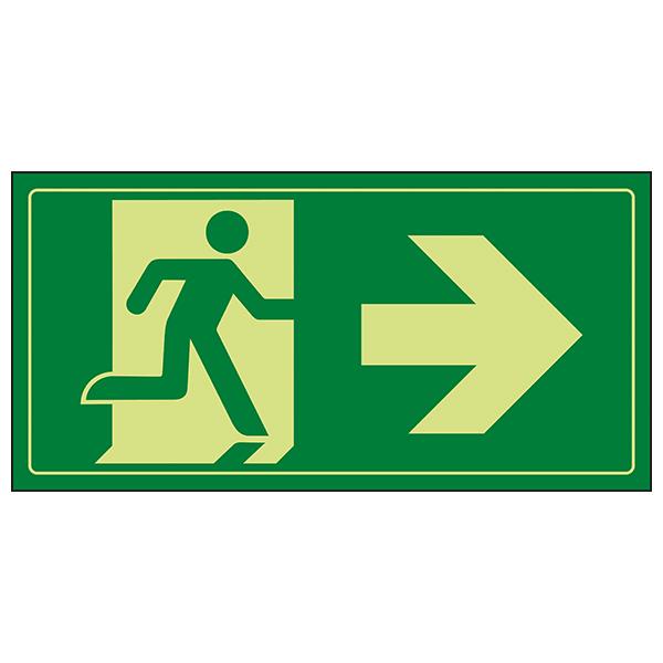 GITD Fire Exit Man Running Right