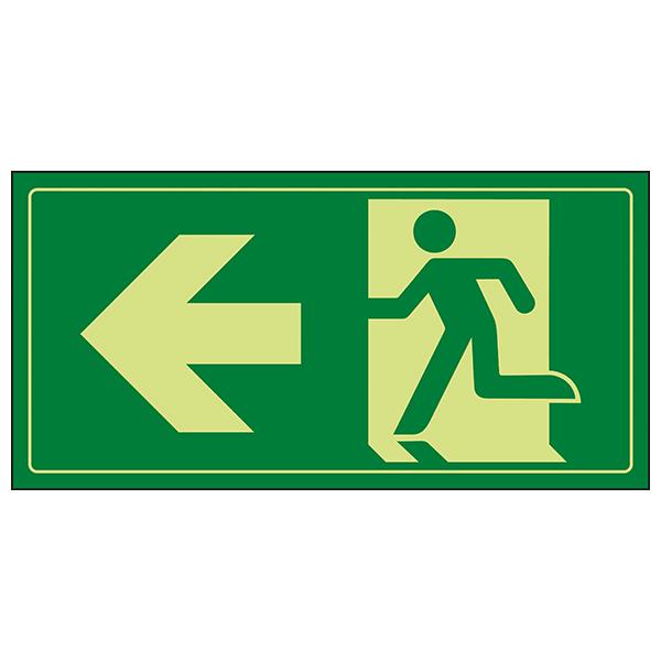 GITD Fire Exit Man Running Left