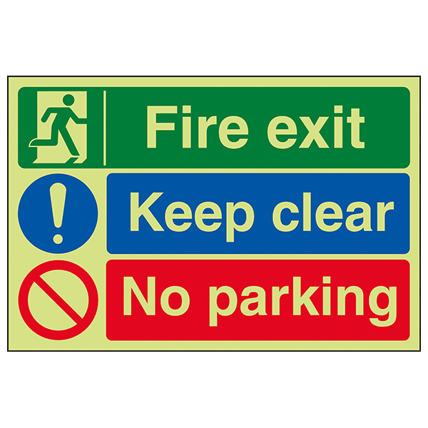 GITD Fire Exit / Keep Clear / No Parking