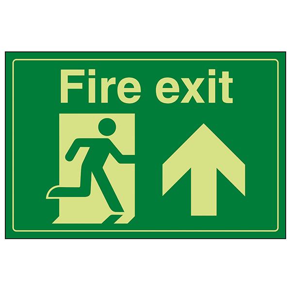GITD Fire Exit / Man Running / Up