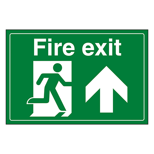 Fire Exit / Man Running / Up