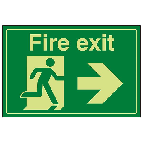 GITD Fire Exit / Man Running / Right