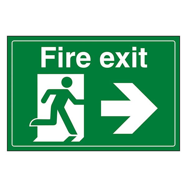 Fire Exit / Man Running / Right