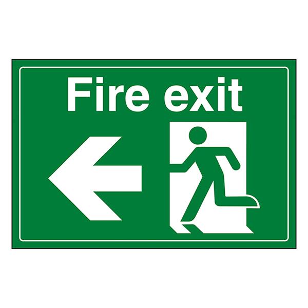 Fire Exit / Man Running / Left