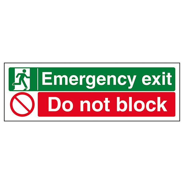 Emergency Exit / Do Not Block