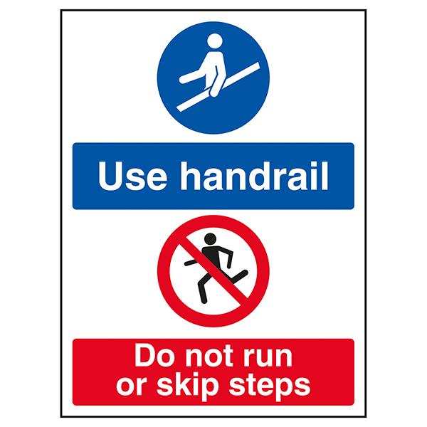 Use Handrail / Do Not Run Or Skip Steps
