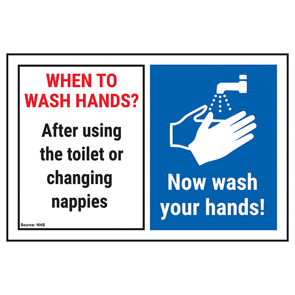 When To Wash Hands? After Using...Now Wash Your Hands!