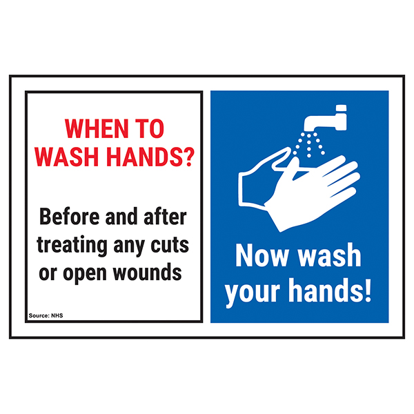 When To Wash Hands? Before & After...Now Wash Your Hands!