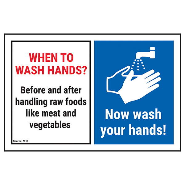 When To Wash Hands? Before and After Handling... Now Wash Hands!