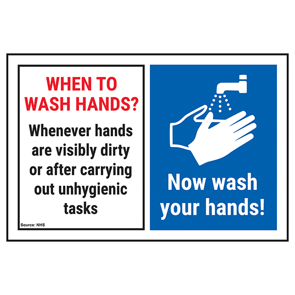 When To Wash Hands? Whenever Hands...