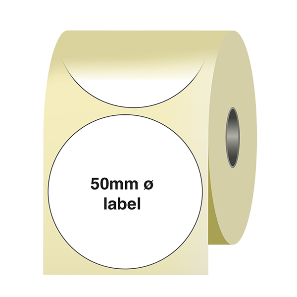 Caution Heavy Load Yellow Circular Labels On A Roll