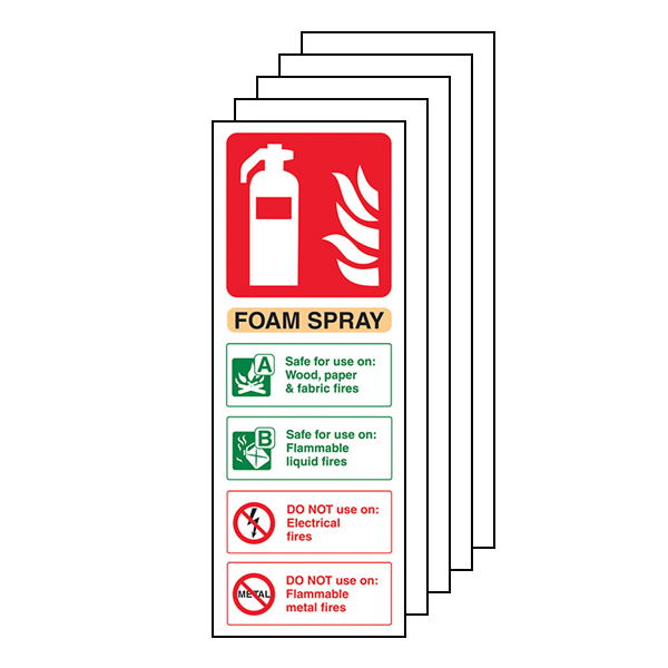 5-Pack Foam Spray Fire Extinguisher