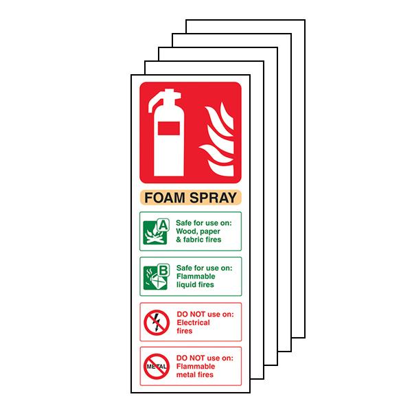 5-Pack Foam Spray Fire Extinguisher