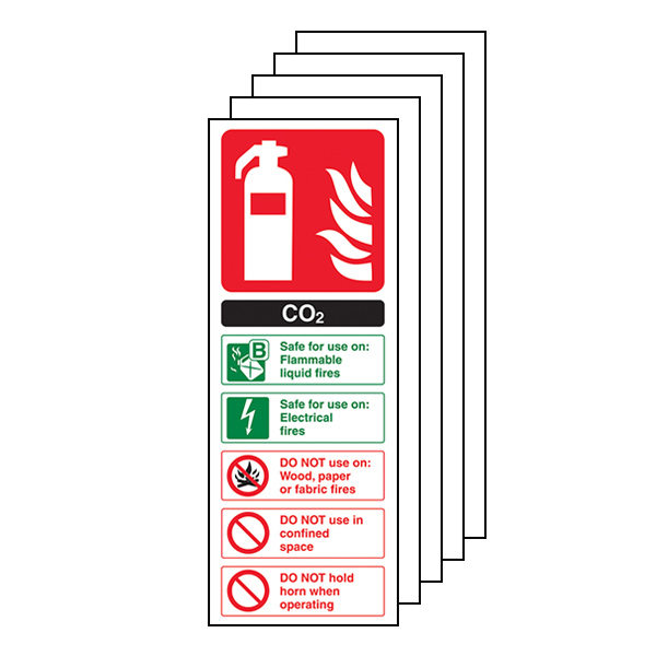 5-Pack CO2 Fire Extinguisher
