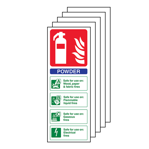 5-Pack Powder Fire Extinguisher