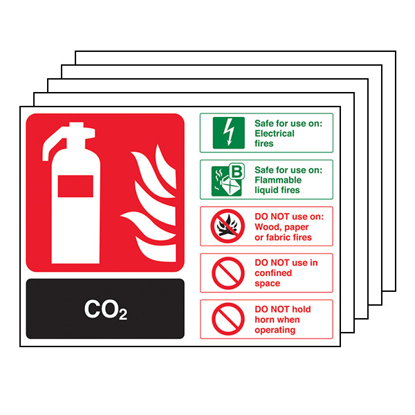 5-Pack CO2 Fire Extinguisher - Landscape