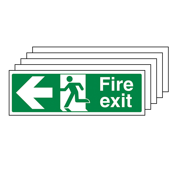 5-Pack Fire Exit Arrow Right