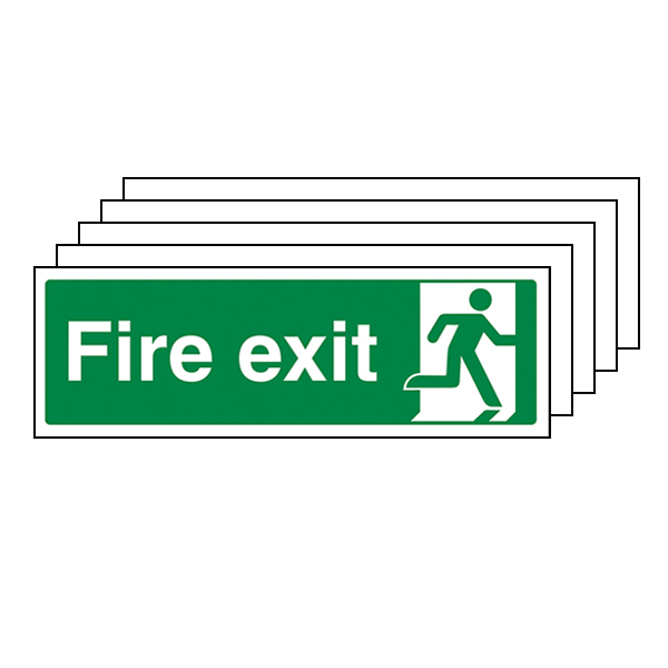 5-Pack Final Fire Exit Man Right