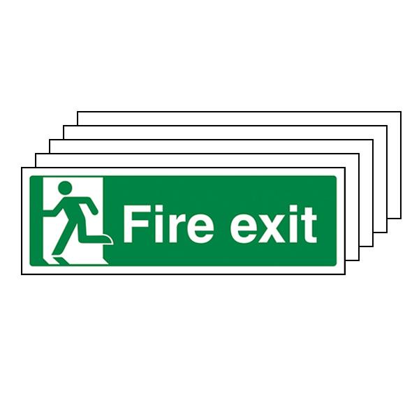 5-Pack GITD Final Fire Exit, Man Left