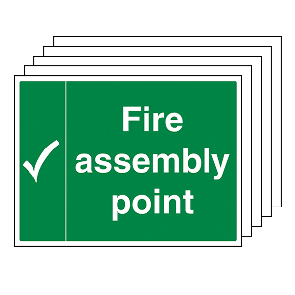 5-Pack Fire Assembly Point