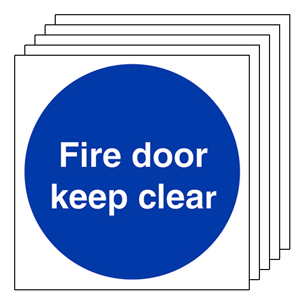 5-Pack Fire Door Keep Clear