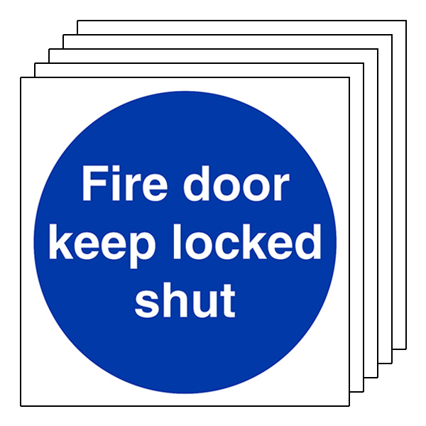 5-Pack Fire Door Keep Locked Shut
