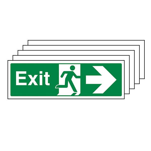 5-Pack Exit Arrow Right - Landscape