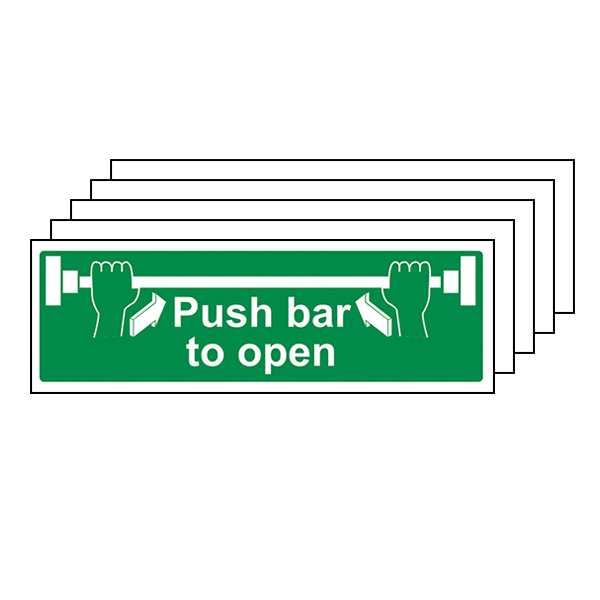 5-Pack Push Bar To Open - Landscape