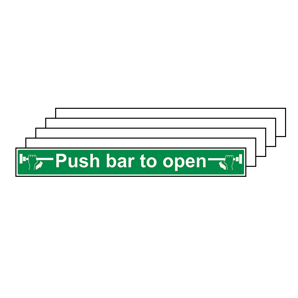 5-Pack Push Bar To Open - Long Landscape