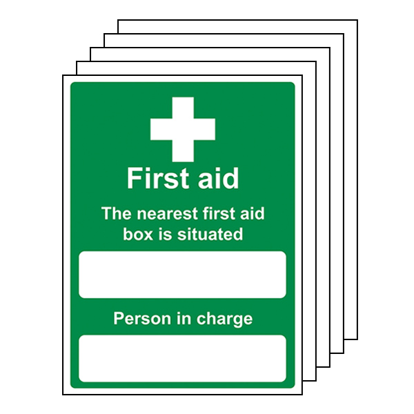 5-Pack The Nearest First Aid Box Is Situated - Portrait