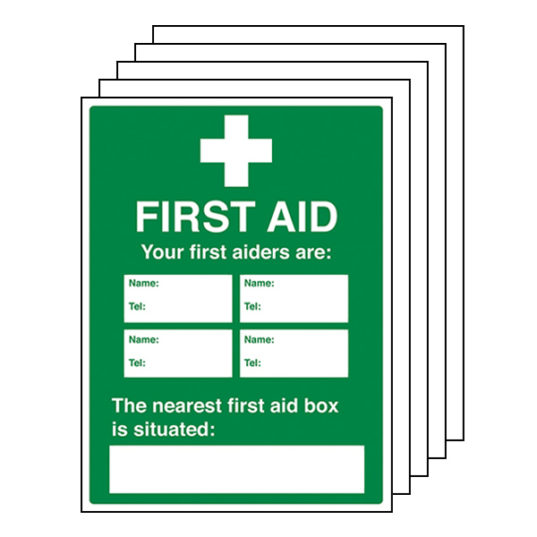 5-Pack Your First Aiders Are - Your Nearest First Aid Box