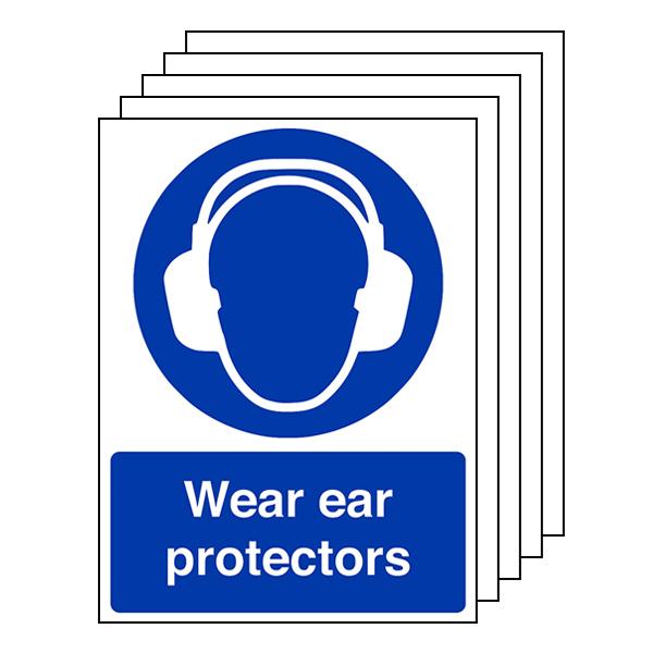 5-Pack Wear Ear Protectors - Portrait