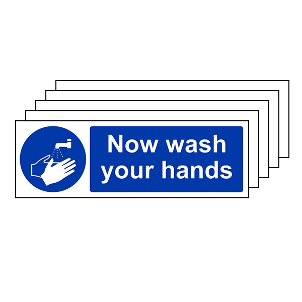5-Pack Now Wash Your Hands