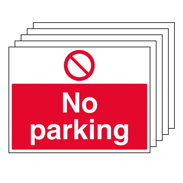 5-Pack No Parking - Large Landscape