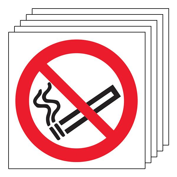 5-Pack No Smoking Symbol
