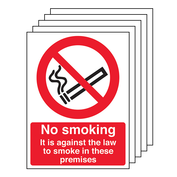 5-Pack No Smoking In These Premises - Portrait