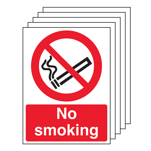5-Pack No Smoking - Portrait