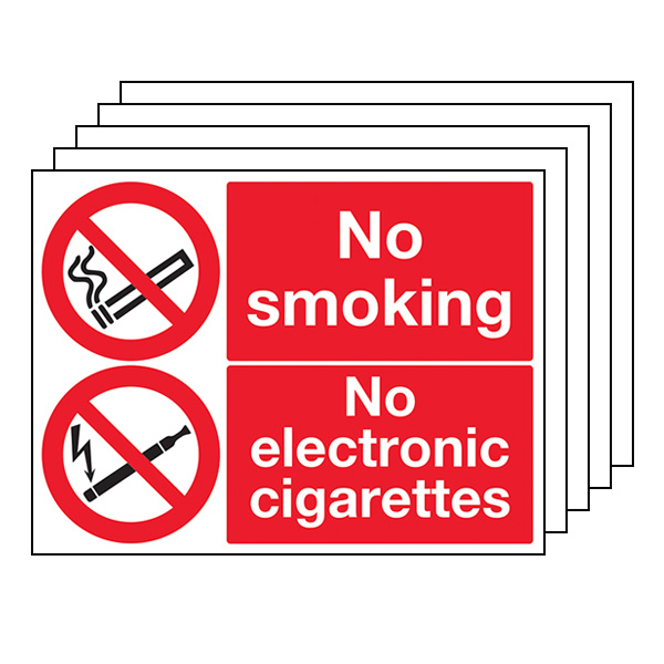 5-Pack No Smoking No Electronic Cigarettes