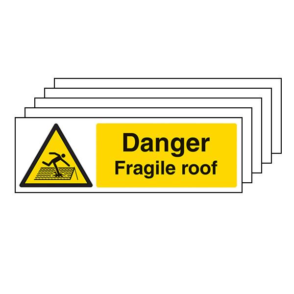 5-Pack Danger Fragile Roof - Landscape