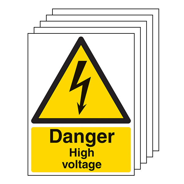 5-Pack Danger High Voltage - Portrait