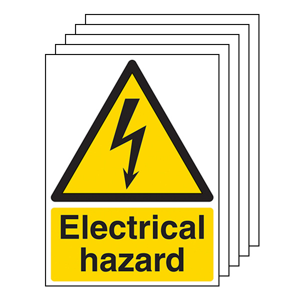 5-Pack Electrical Hazard