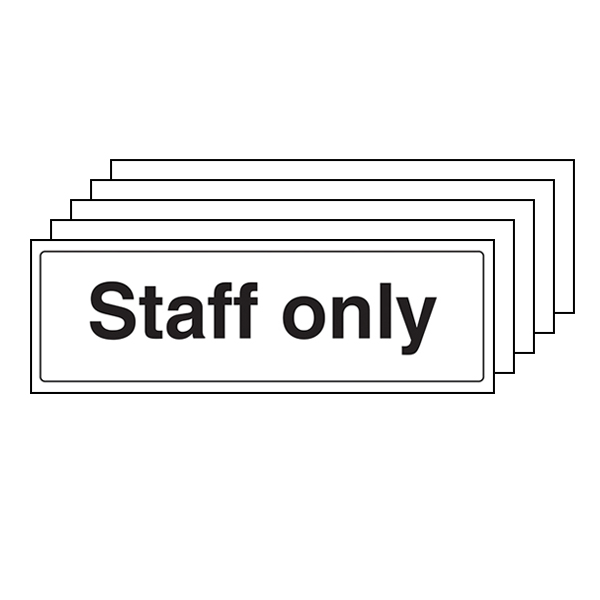 5-Pack Staff Only