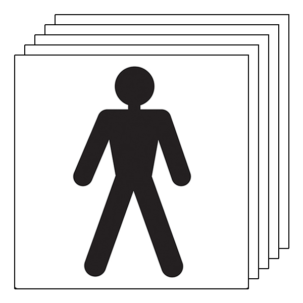 5-Pack Male Toilet Symbol
