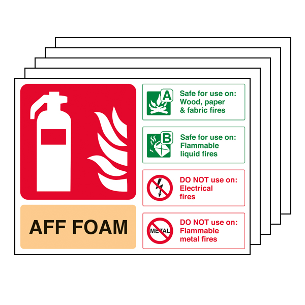 5PK - AFF Foam Fire Extinguisher - Landscape