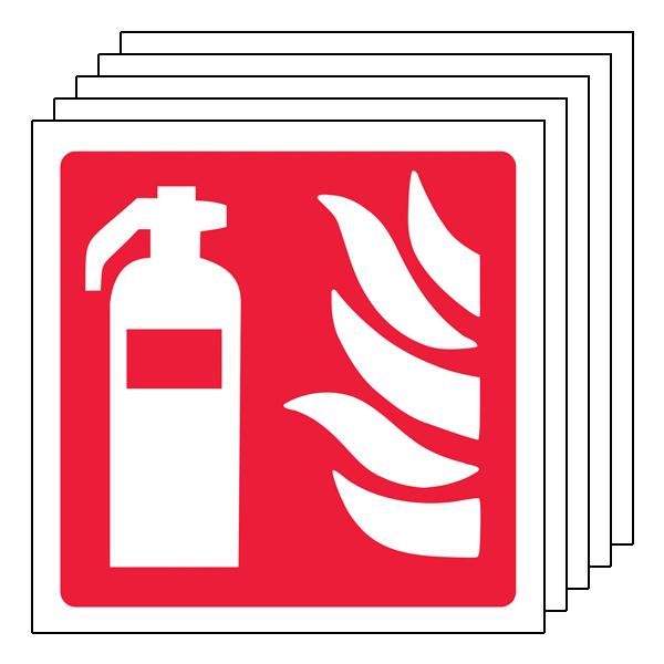 5PK - Fire Extinguisher Symbol